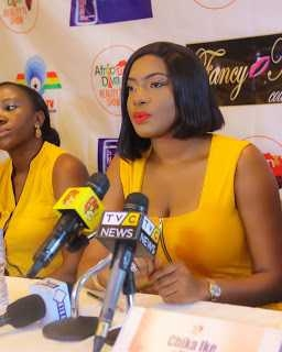 Photos: Actress Chika Ike Stuns In Yellow At AIT For Press Briefing Of Her Reality Show